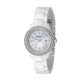 Fossil Women's White Resin Bracelet Watch