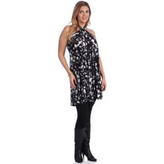 Women's Plus Size Convertable Print Dress