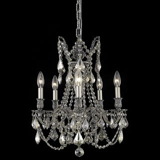 Somette Meilen 5-light Royal Cut Gold Crystal and Pewter Chandelier
