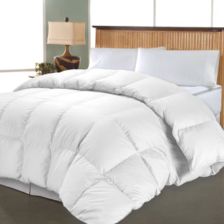 Hotel Grand 1000 Thread Count Egyptian Cotton Oversized White Down Comforter (3 options available)