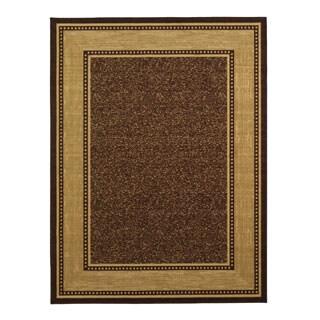Ottomanson Contemporary Border Chocolate Brown Area Rug (3'3 x 5')