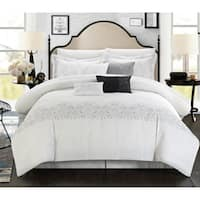 Oliver & James January Embroidered 8-piece White Comforter Set