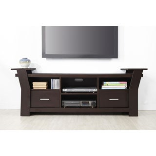Furniture of America Skyler Contemporary 64-inch Black/ White or Cappuccino 2-drawer TV Console