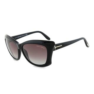 Tom Ford Women's 'Lana TF280 01B' Black Sunglasses