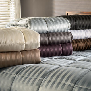 Superior All-Season Luxurious Striped Down Alternative Comforter (More options available)