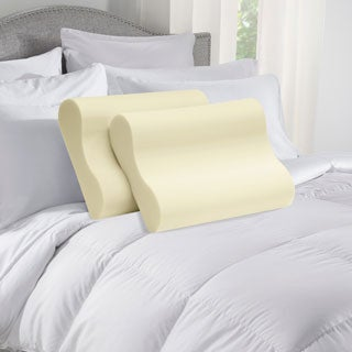Touch of Comfort Memory Foam Contour Pillows (Set of 2) - Off-white