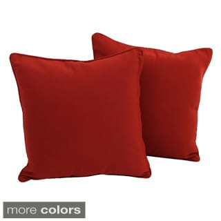 Blazing Needles Twill Removable Cover Square 18-inch Throw Pillows (Set of 2)