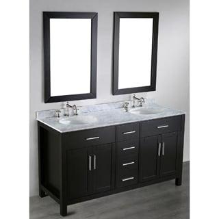 Bosconi SB 252 4 60 inch Contemporary Double Vanity with Mirrors. Size Double Vanities Wall Mirror Bathroom Vanities  amp  Vanity