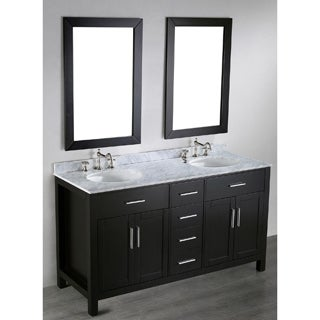 Bosconi SB-252-4 60-inch Contemporary Double Vanity with Mirrors