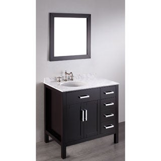Bosconi SB-2105 36-inch Contemporary Single Vanity with Mirror