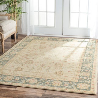 nuLOOM Traditional Ziegler Mahal Ivory Rug (7'10 x 11')
