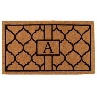 Pantera Monogrammed Extra-thick Coir Doormat (3' x 6')
