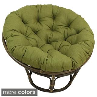 Blazing Needles Solid 44-inch Indoor/ Outdoor Papasan Cushion - 44