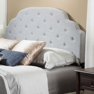Allyson Adjustable Full/ Queen Button Tufted Fabric Headboard by Christopher Knight Home