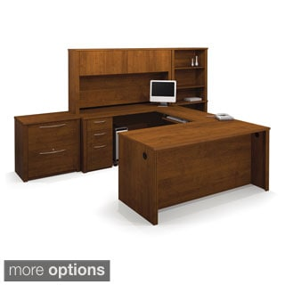 Bestar Embassy U-shaped Workstation Desk and Accessories Kit