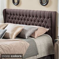 Morris Adjustable Full/ Queen Tufted Wingback Fabric Headboard by Christopher Knight Home