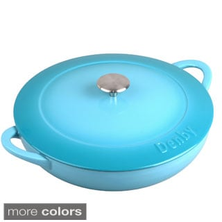 Denby Cast Iron 3.8-liter Shallow Covered Casserole