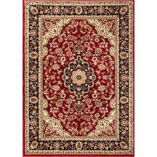 Well Woven Medallion Traditional Red Mat Accent Rug - 2'3 x 3'11