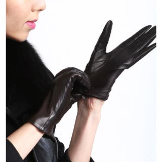 Women's Touch Screen Premium Genuine Lambskin Leather Texting Gloves