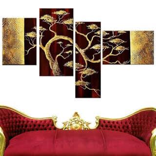 Hand-painted Modern Bonsai Tree 4-piece Painting Set|https://ak1.ostkcdn.com/images/products/P15937179.jpg?impolicy=medium