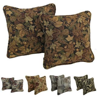 Blazing Needles Floral Corded Tapestry Pillow (Set of 2)|https://ak1.ostkcdn.com/images/products/P15950111a.jpg?impolicy=medium