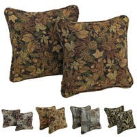 Copper Grove Elk Island Floral Corded Tapestry Pillow (Set of 2)