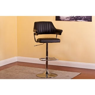 Black Contemporary Swivel-adjustable Barstool