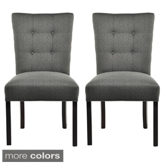 La Mode 4 Button Stitched Fanback Candice Dining Chair Set Of 2