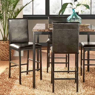 Darcy Metal Upholstered Counter Height Dining Chairs by INSPIRE Q (Set of 4)