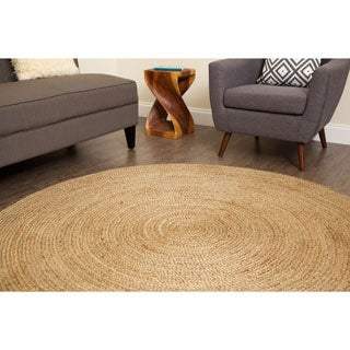 Jani Tara Natural Braided Jute Rug (6' Round)