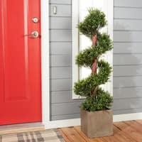 Romano 4-foot Indoor/ Outdoor Boxwood Spiral Tree