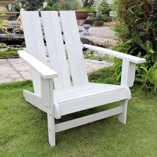 Acacia Hardwood Natural Square Back Adirondack Chair