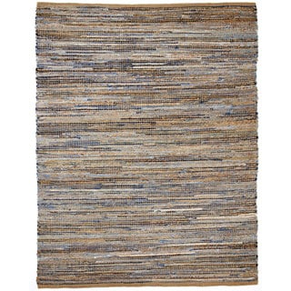 Jani Oki Denim/Jute Hand-loomed Rug (5' x 8') - 5'x 8'