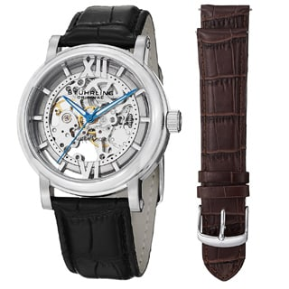 Stuhrling Original Men's Winchester XT Watch Set Automatic Interchangeable Strap Watch