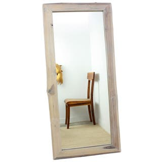 Handmade Antique White Reclaimed Teak Wood Full-length Mirror (Thailand)|https://ak1.ostkcdn.com/images/products/P16030915X.jpg?impolicy=medium