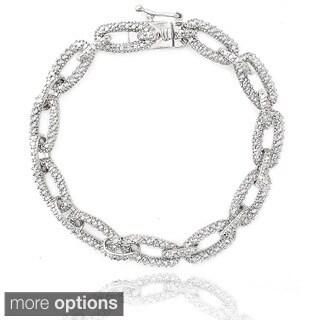 DB Designs 1ct TDW Diamond Chain Link Bracelet