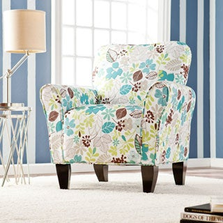 Harper Blvd 'Margo' Teal Floral Upholstered Arm Chair
