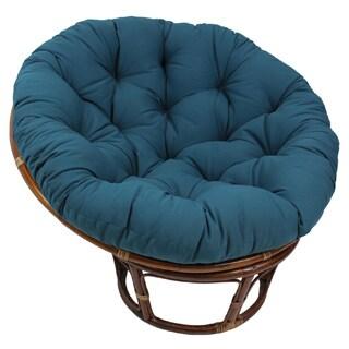 "Blazing Needles 48-inch Solid Twill Tufted Papasan Chair Cushion - 48"" x 48"""
