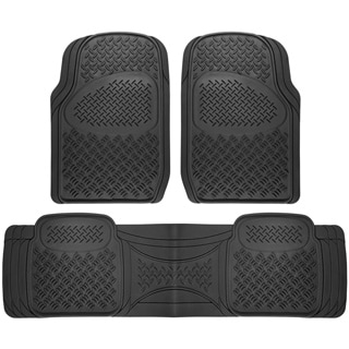 Oxgord Diamond Rugged 3-piece All Weather Rubber Automotive Floor Mat Set