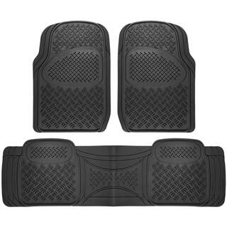 Oxgord Diamond Rugged 3-piece All Weather Rubber Automotive Floor Mat Set|https://ak1.ostkcdn.com/images/products/P16055412p.jpg?impolicy=medium