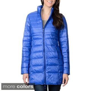 Leonardo Women's Stand Collar Faux Down Quilted Coat