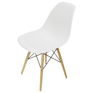Lucas White Wood Grain Accent Chairs (Set of 2)