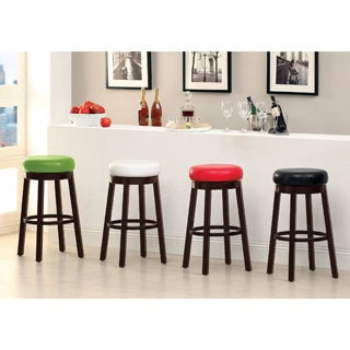 Furniture of America Azio 29-inch Leatherette Swivel Seat Bar Stool (Set of 2)
