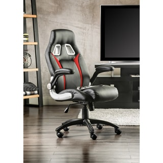 furniture of america enzo height adjustable padded chair