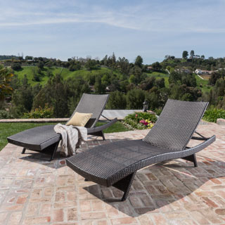 toscana outdoor wicker lounge chairs by christopher knight home set of 2