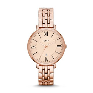 Fossil Women's Jacqueline Rose Goldtone Chronograph Watch
