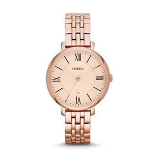 Fossil Women's Jacqueline Rose Goldtone Chronograph Watch
