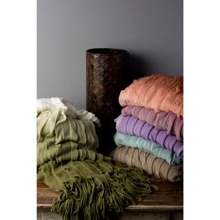 Polly Acrylic Woven Ombre 50x60-inch Throw