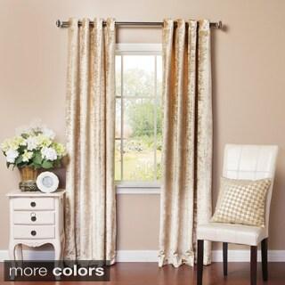 Aurora Home Velvet Grommet Top Curtain Panel Pair