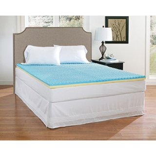 Broyhill Sensura Dual-layer 2-inch Gel Enhanced Memory Foam Mattress Topper - Blue